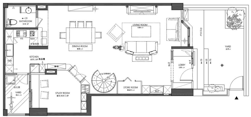 1樓平面圖提供_黃巢設計工務店/戴小芹建築師事務所