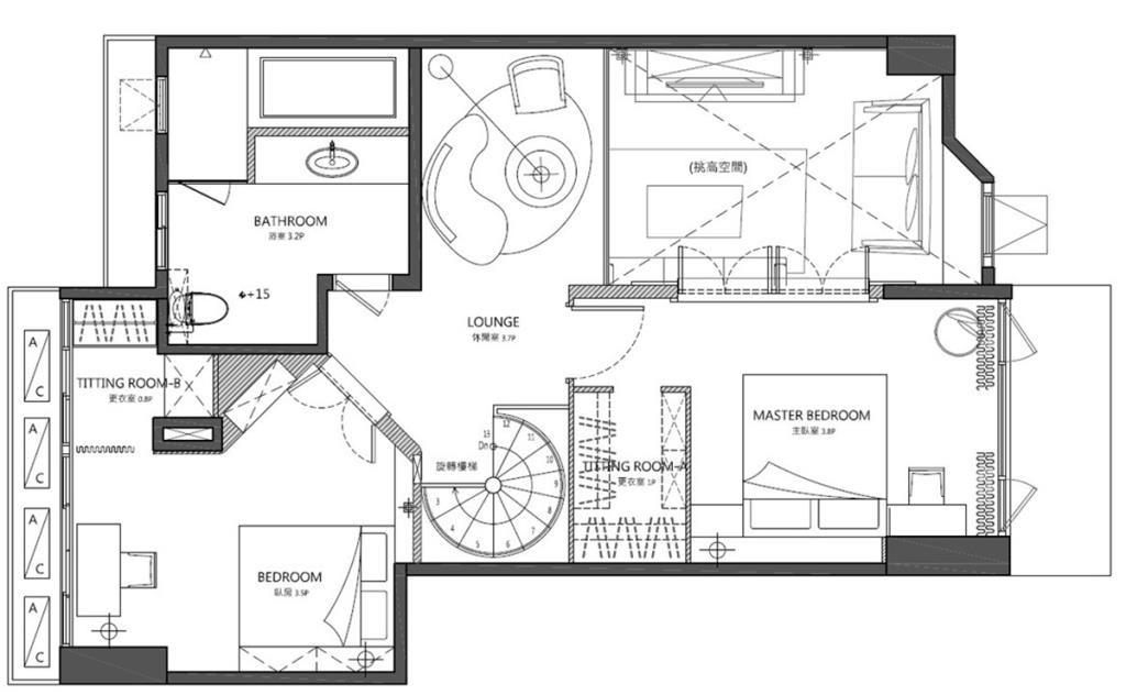 2樓夾層平面圖提供_黃巢設計工務店/戴小芹建築師事務所