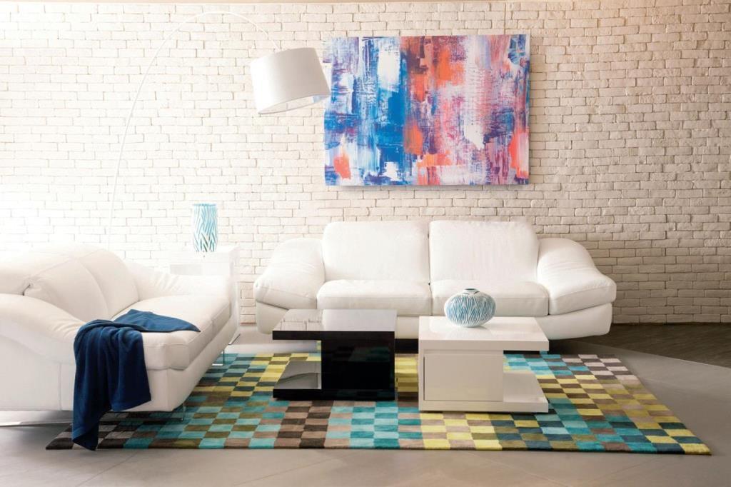 Delta Salotti Wave 沙發 : 一張造型、配色簡單的沙發,搭配各種活躍的視覺元素,營造出獨一無二的個人義式風格。