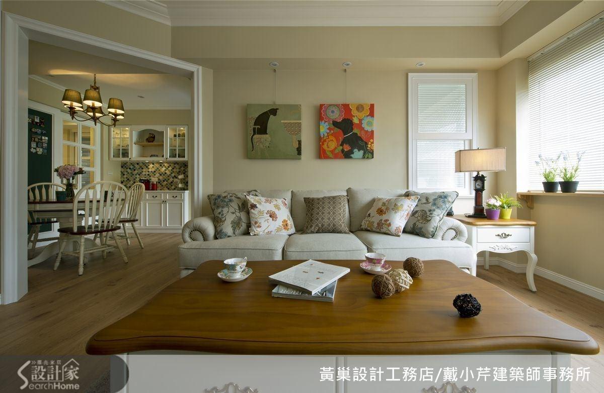 中性的藤色系很適合運用在客廳。