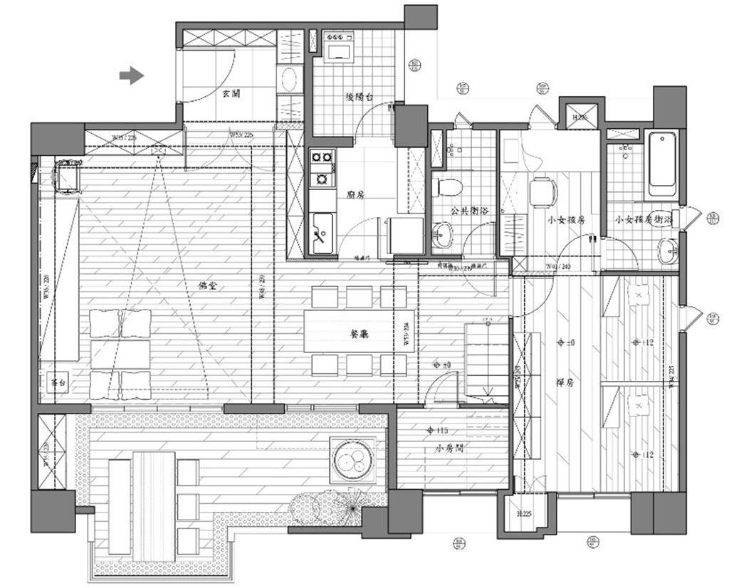 1樓_平面圖提供_世家新室內裝修設計