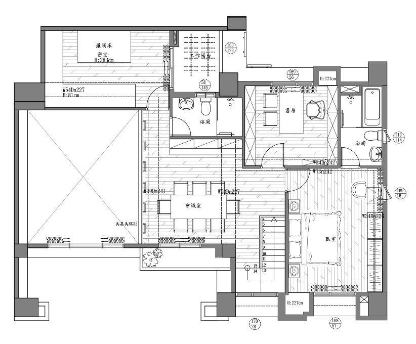 2樓_平面圖提供_世家新室內裝修設計
