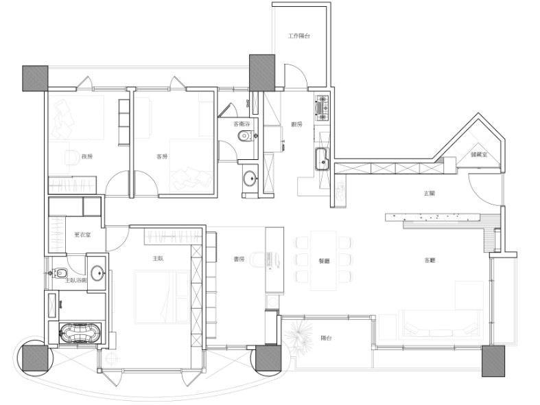 平面圖提供_賀澤室內設計