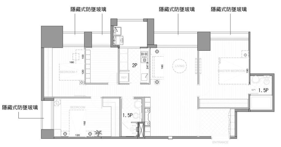 平面圖提供_郭璇如室內設計工作室