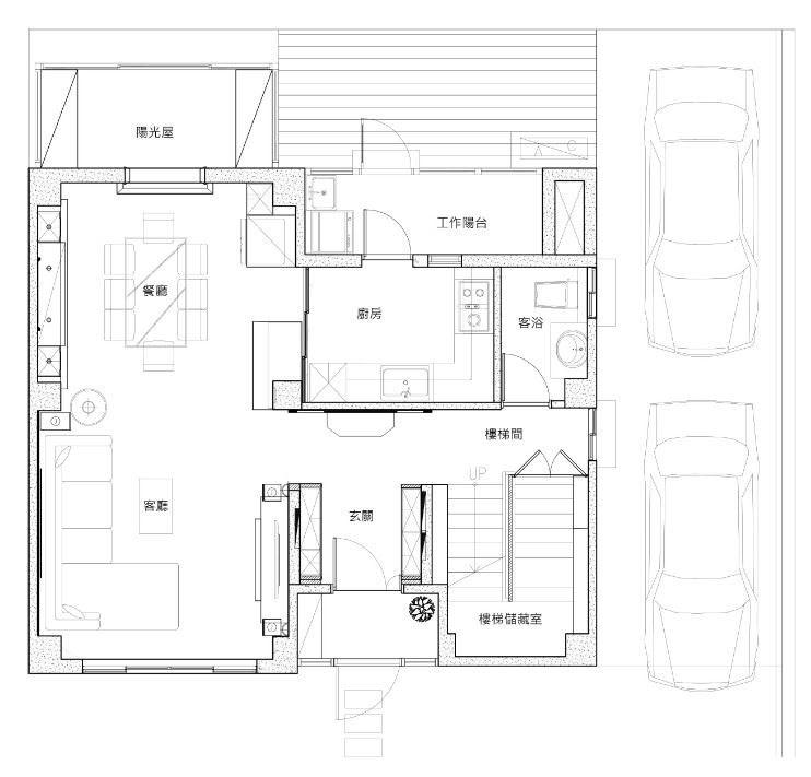 1 樓 平面圖提供_昱承室內設計