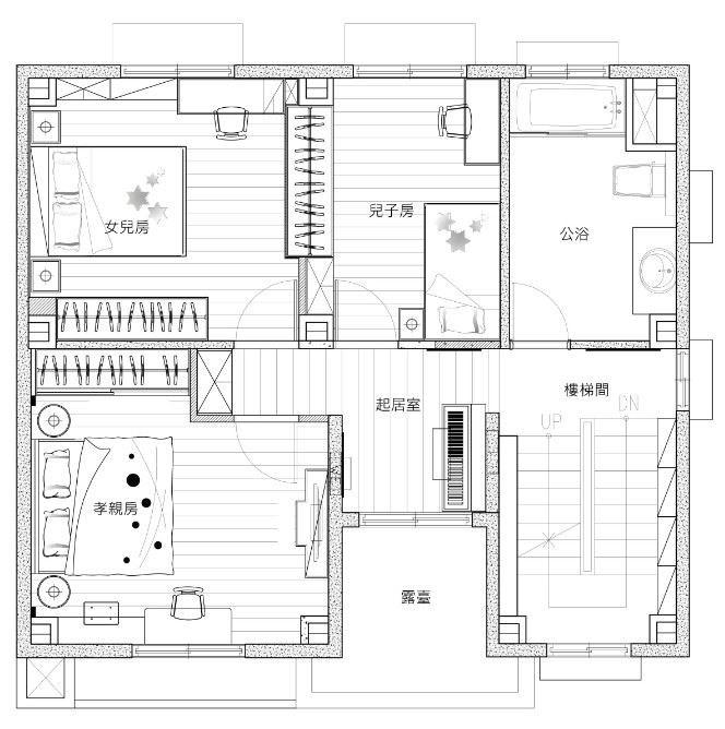 2 樓 平面圖提供_昱承室內設計