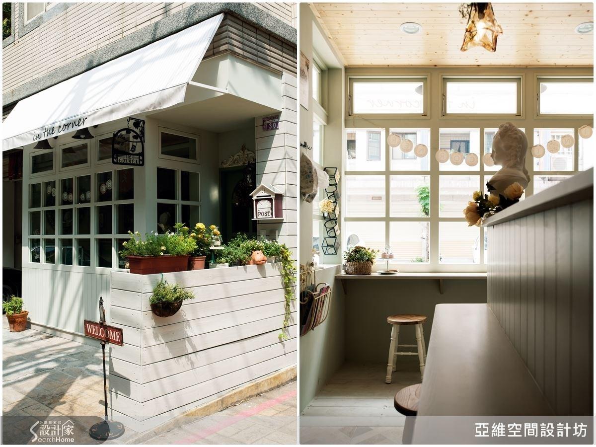整體以法式鄉村風格為設計基調,外觀透過米綠色格狀門窗規劃,成為在地地景,並讓充足陽光迤邐進入室內環境。