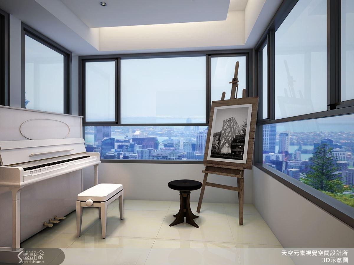這是屋內的琴房,搭配極好的視野景觀,給予最好的休閒享受環境。