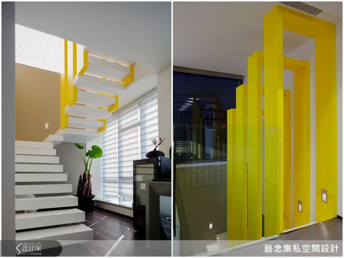 注入時光隧道的設計意念,跳脫空間感,讓樓梯不再只是樓梯,更是進入另一空間的心情轉運站。