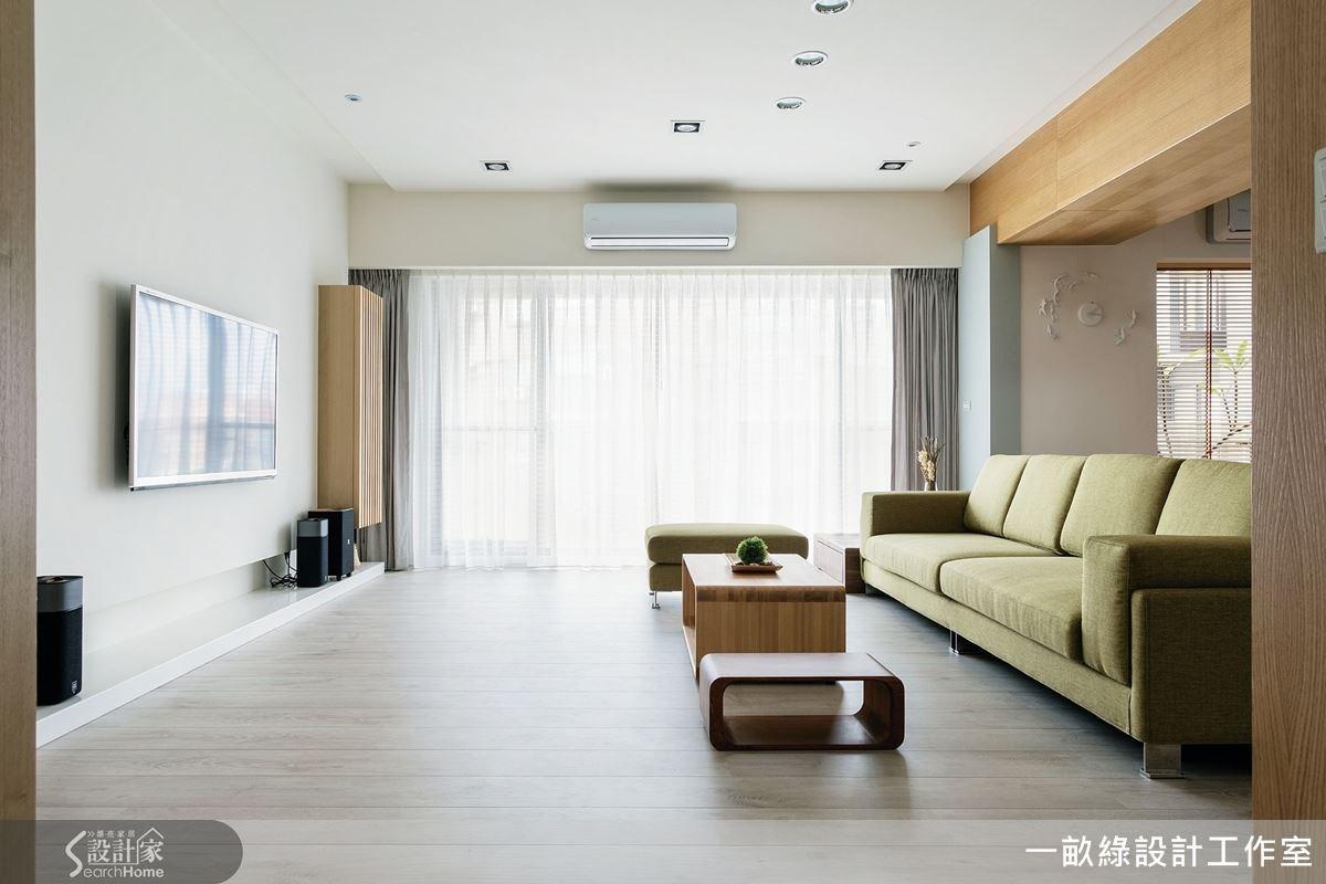 保留空間大面窗,再結合開放式手法,讓整體視覺與環境尺度都有放大效果。