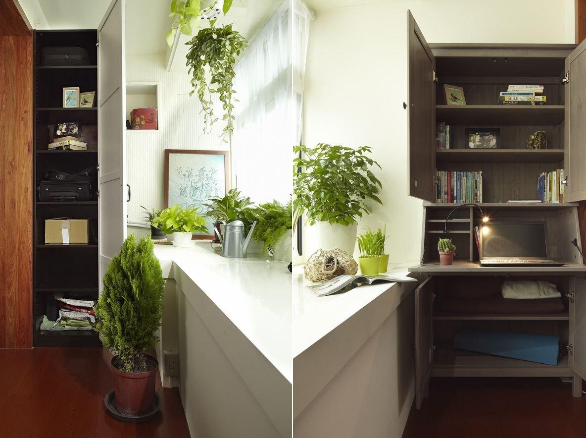 運用櫃體、層板等,方便物品排列整齊,讓空間充滿明亮感。圖片提供_IKEA