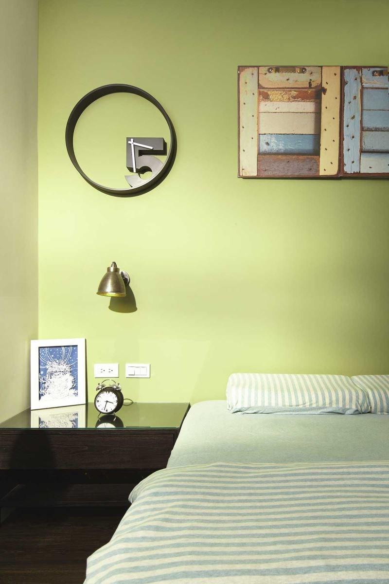 運用嫩綠的色澤,搭配現代感的軟件,清新的空間好像把大自然搬回家。
