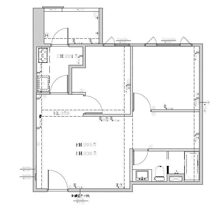 弟弟的家_Before平面圖提供_大琚空間設計