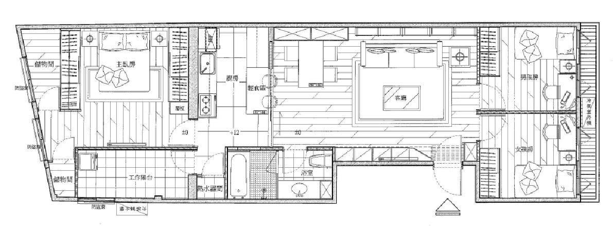 平面圖提供_禾創室內設計/禾捷室內裝修設計