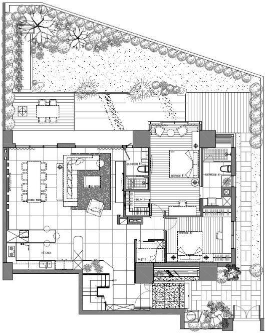 1 樓平面圖提供_九禾室內設計