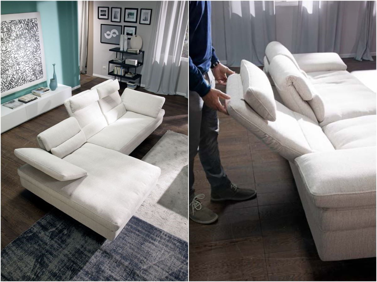 夏圖 2015 年新款沙發 Dora 在外觀與功能上都做了些許改良,不但擁有可依使用者身高調整,機能性十足的頭枕,向後延伸的拉背功能,也是設計上的亮點。