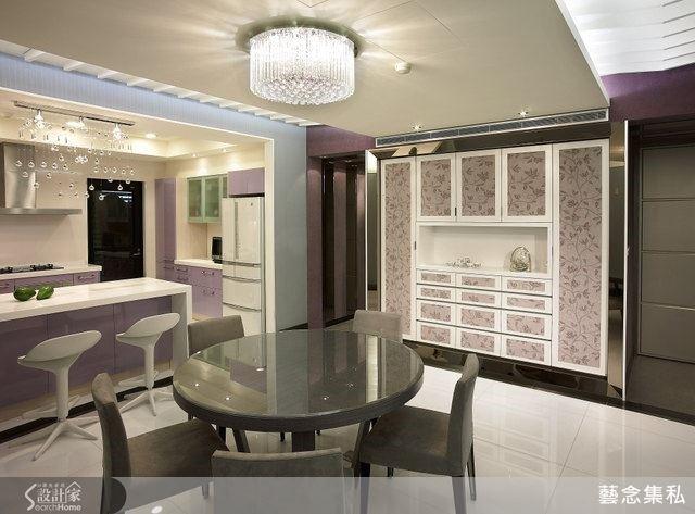 廚房就是女人的地盤,即使家裡有兩個兒子,先生也完全讓太太主導,選擇最愛的、優雅的紫色系列,讓女主人天天開心為一家人料理美食。