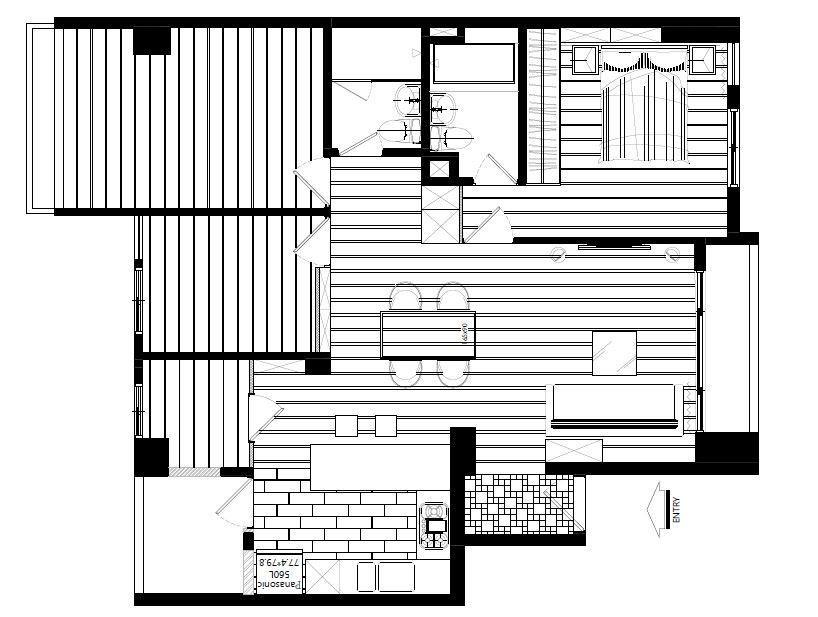從改造後的平面圖來看,可以發現公共區域的動線變得十分流暢。平面圖提供_陶璽空間設計。