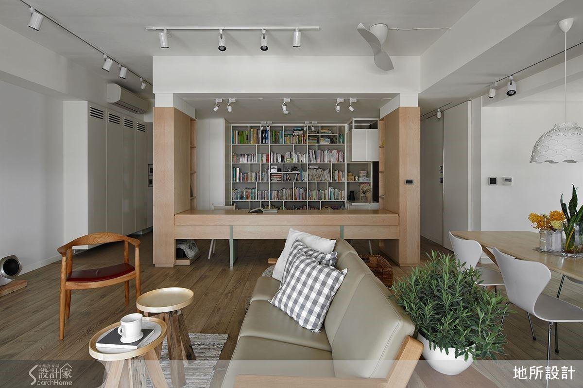 結合親子圖書館為主軸,共享親密互動的北歐宅