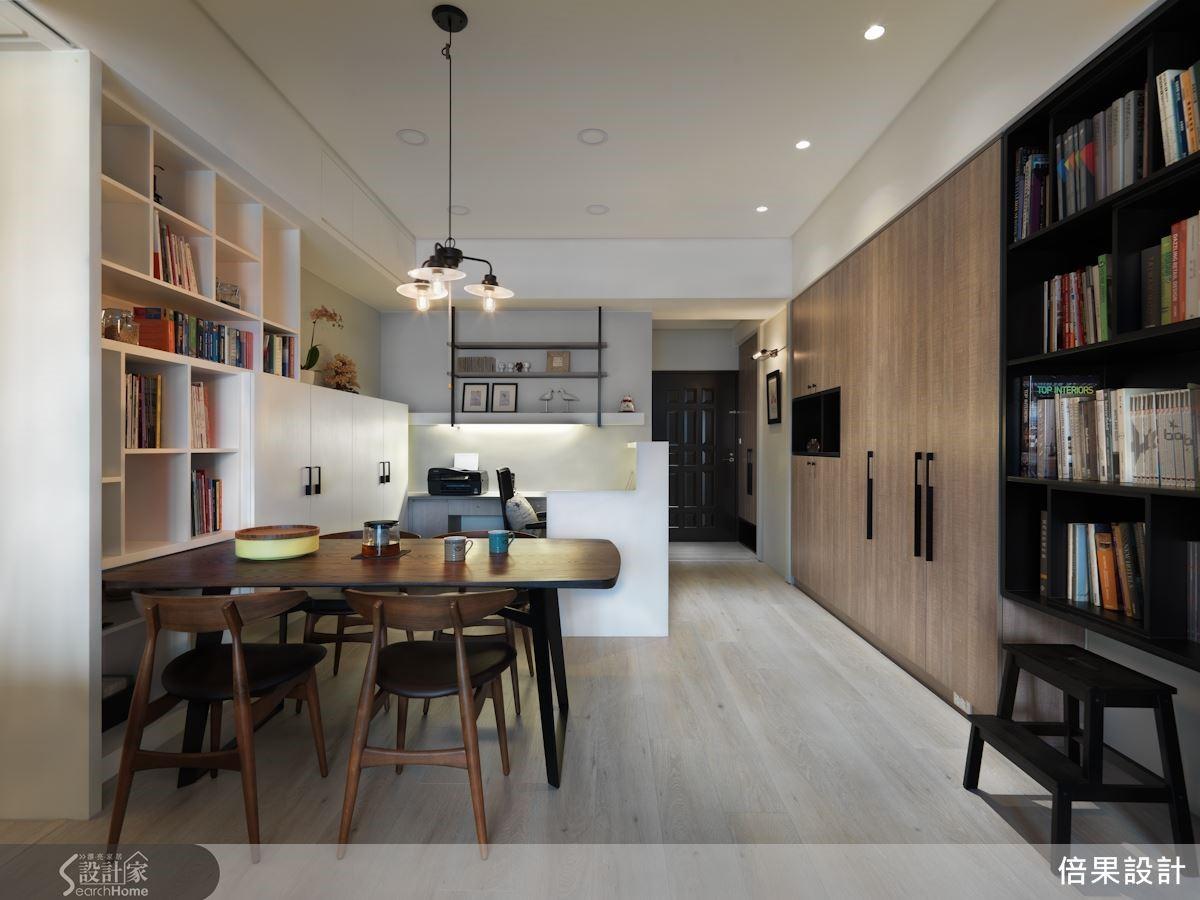 復古木感與清新牆色,共構現代與美式的簡練與優雅。