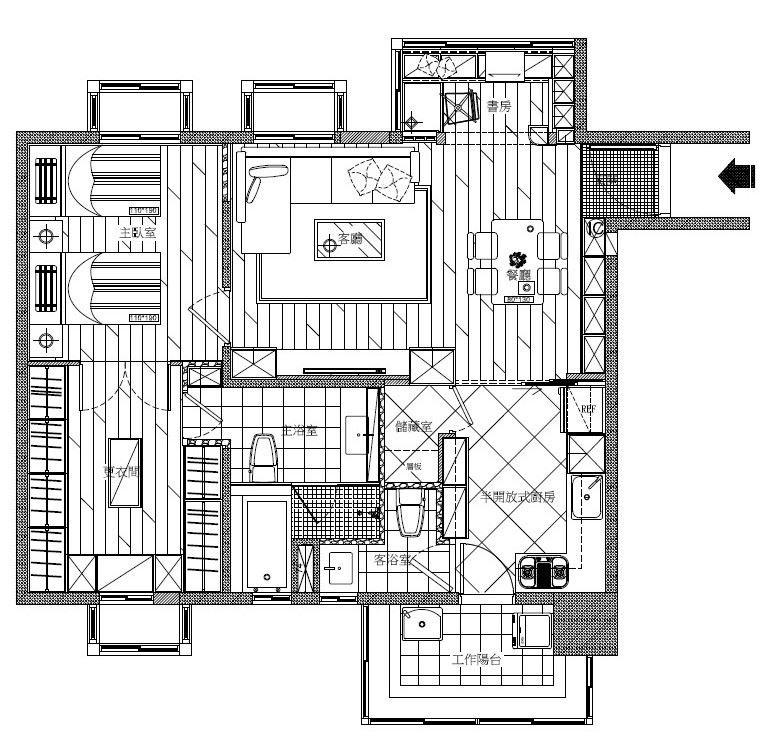 AFTER 平面圖提供_禾創室內設計/禾捷室內裝修設計