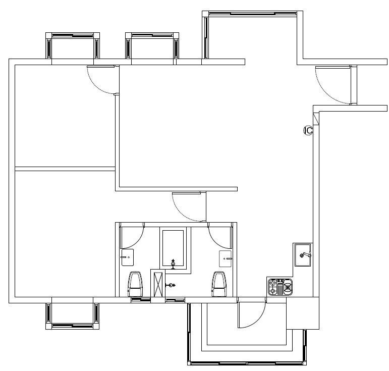 BEFORE 平面圖提供_禾創室內設計/禾捷室內裝修設計