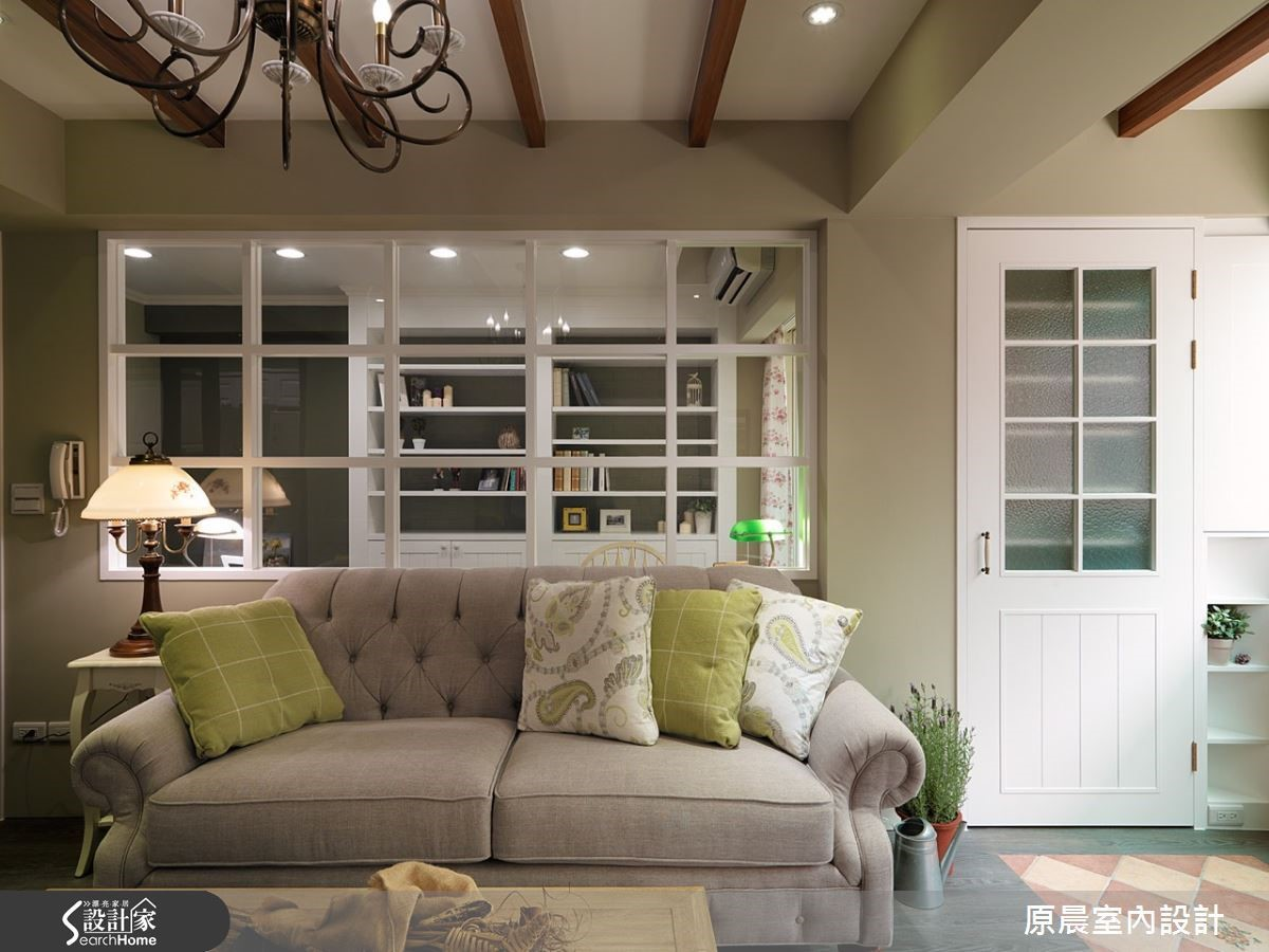 楊崇毅設計師擅長利用美式鄉村風採光的特性,營造優雅、溫馨又兼顧實用性的生活環境。