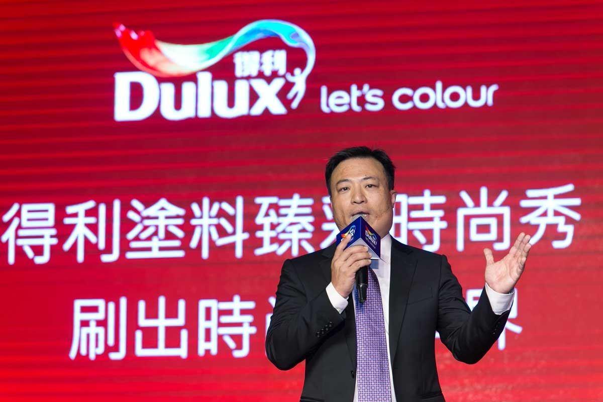 Dulux 得利塗料台灣、香港、韓國及日本總經理,王瑜樑先生宣告新產品正式上市!