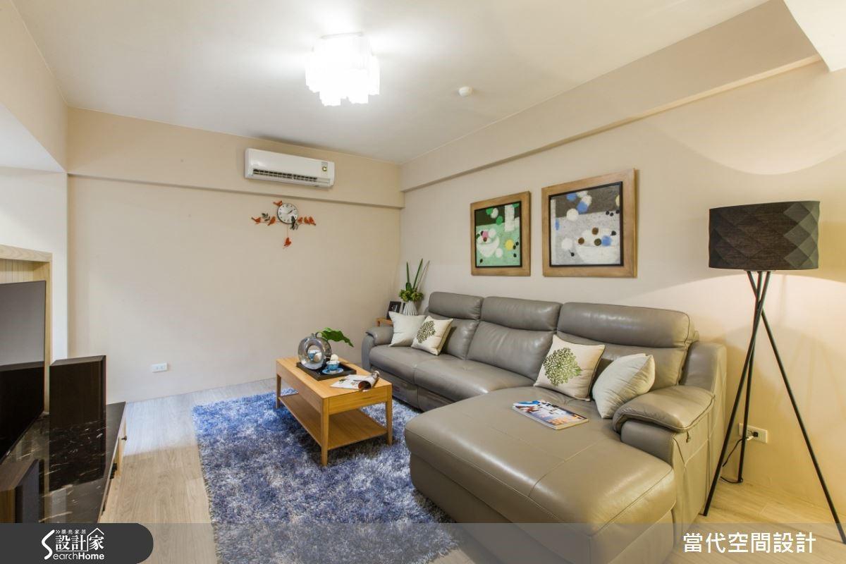 房子空間有限,因此在色彩上不使用過於強烈的色系,選擇淡雅色系為主軸,可呈現舒適溫馨。
