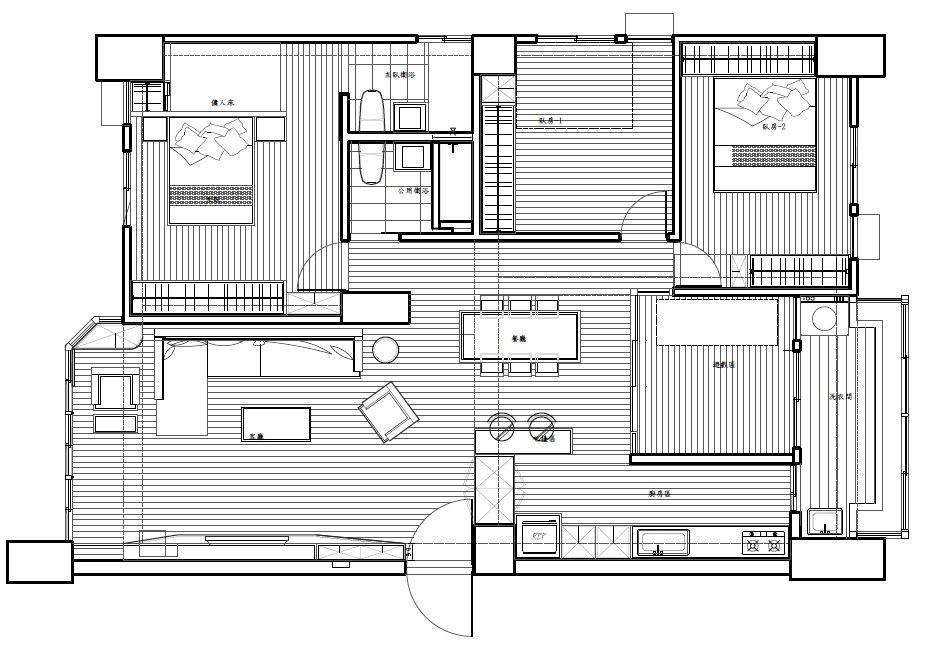 平面圖提供_震騰室內裝修設計工程