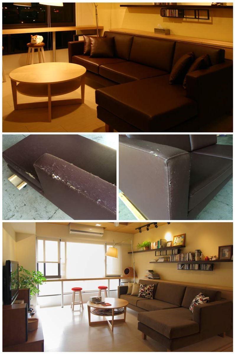 重視環保觀念,屬於他們沙發的如新計畫。一張好椅子能傳一輩子,而椅子是耐久性的家具,有時候用了五年覺得沒壞但也不比新買舒服亮麗,職人也建議可以不用丟掉,在結構未損壞下,換上泡棉更換表面的布,即是可以傳承的家具。圖片提供_椅子工廠