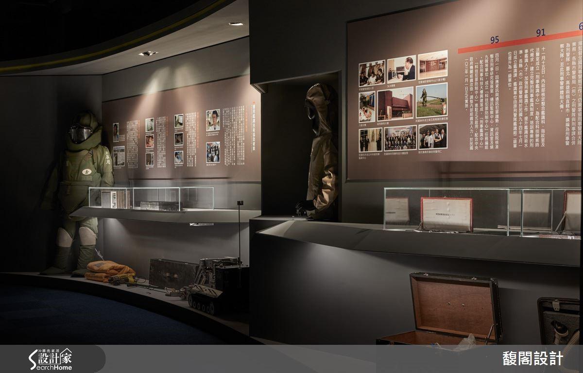 為了設計文物館,黃鈴芳設計師走訪了許多場館,發現玻璃展櫃的陳列規劃是她可以著眼的關鍵。玻璃櫃體講究觀者觀看的高度,投射燈仿照高級珠寶店的燈光設計,降低反光面。