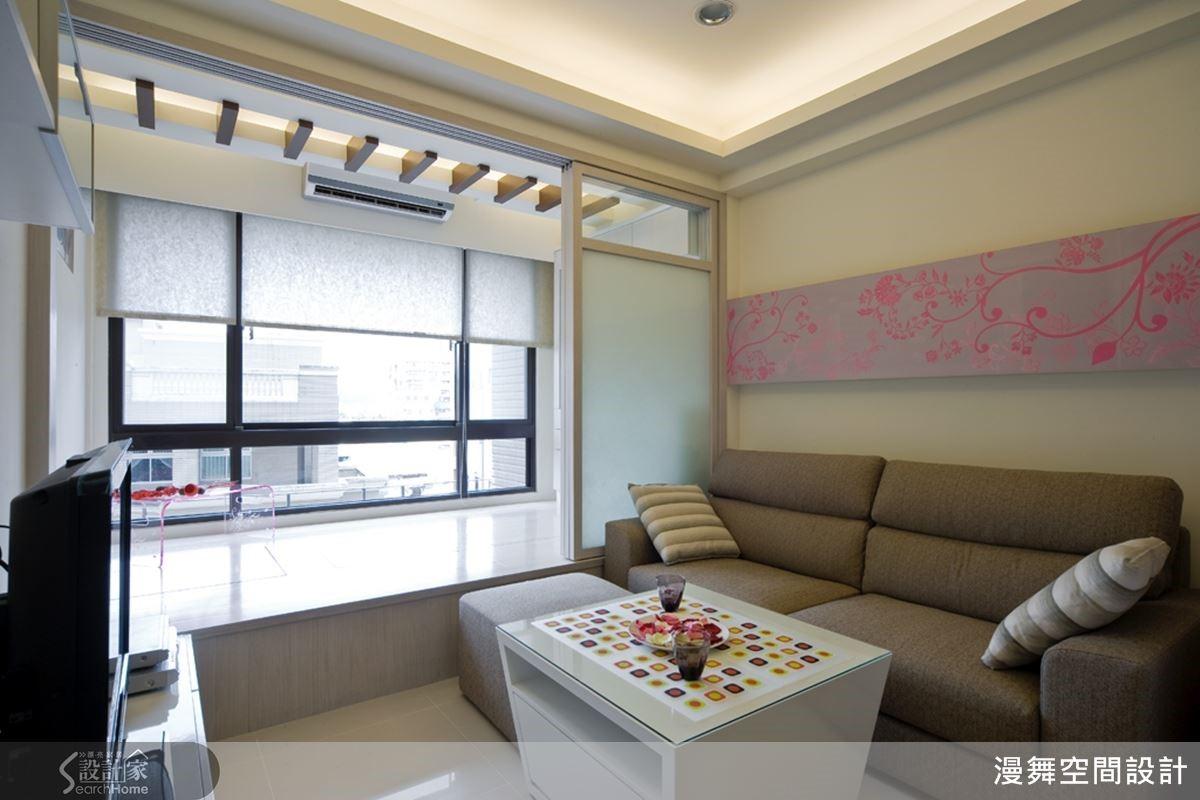 和室平時維持開放,讓客廳的視線不受阻擋,空間感更加開闊而有層次。