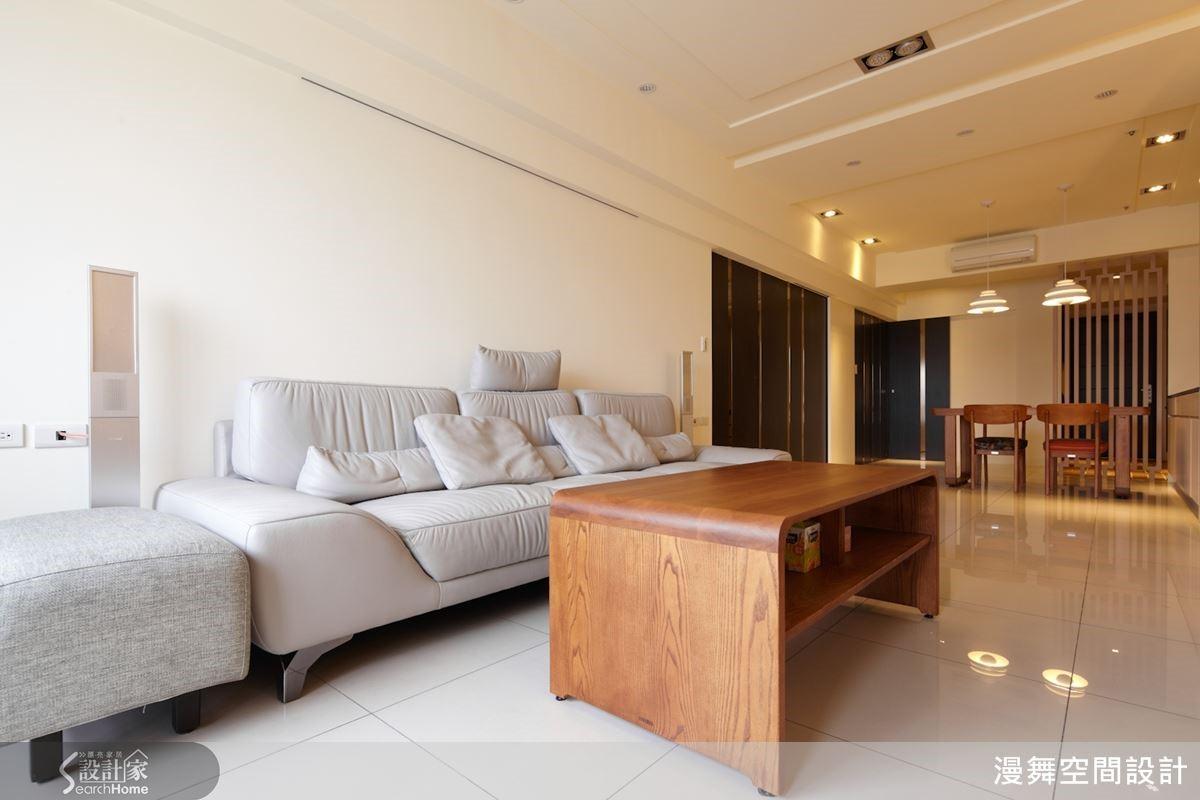 19坪的居家空間經過放大之後,不但顯得寬敞,而且也帶來舒適療癒的感覺,不只讓空間變好看,同時也更好住了呢!