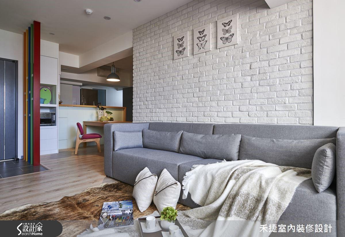 北歐風最適合簡約舒適的布織沙發。