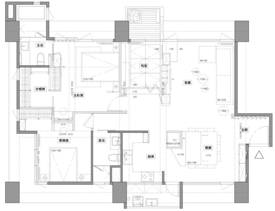 平面圖片提供_藝念集私空間設計