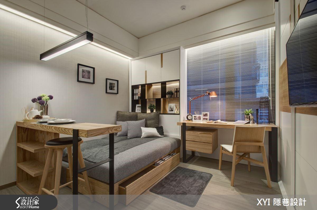 10 坪小套房竟然有玄關、客廳、廚房、臥房、書房、餐廳還有分離式衛浴!
