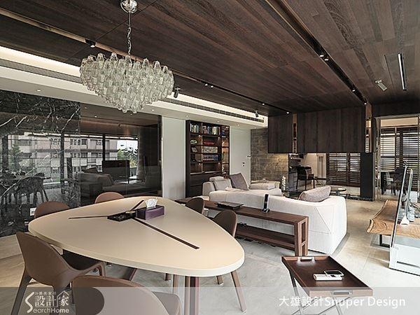 選用 B&B Italia、 Cassian 等經典傢俱配件,烘托女主人喜愛時尚摩登的氣質,打造人如其屋的空間。