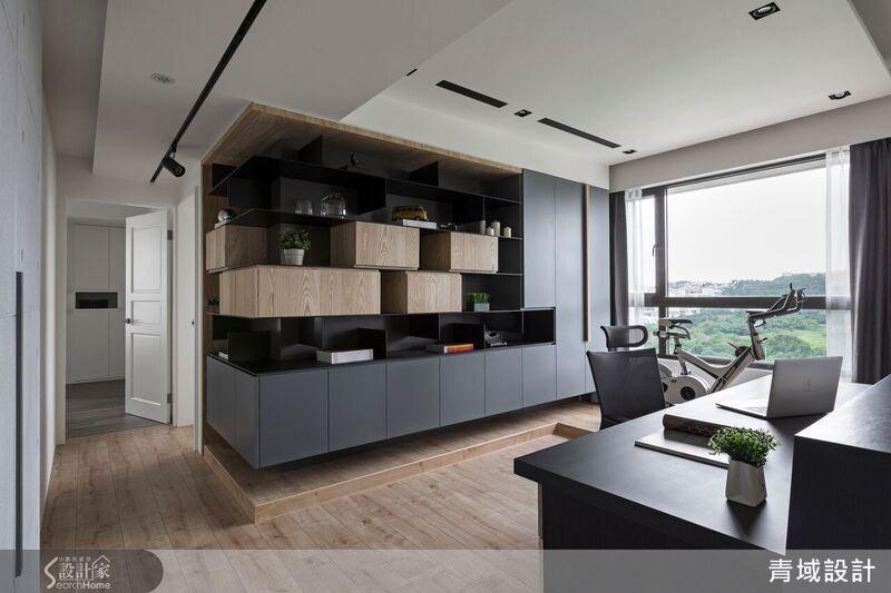 書房藉由開放式空間的串聯,開啟一家人更緊密互動的生活樣貌。