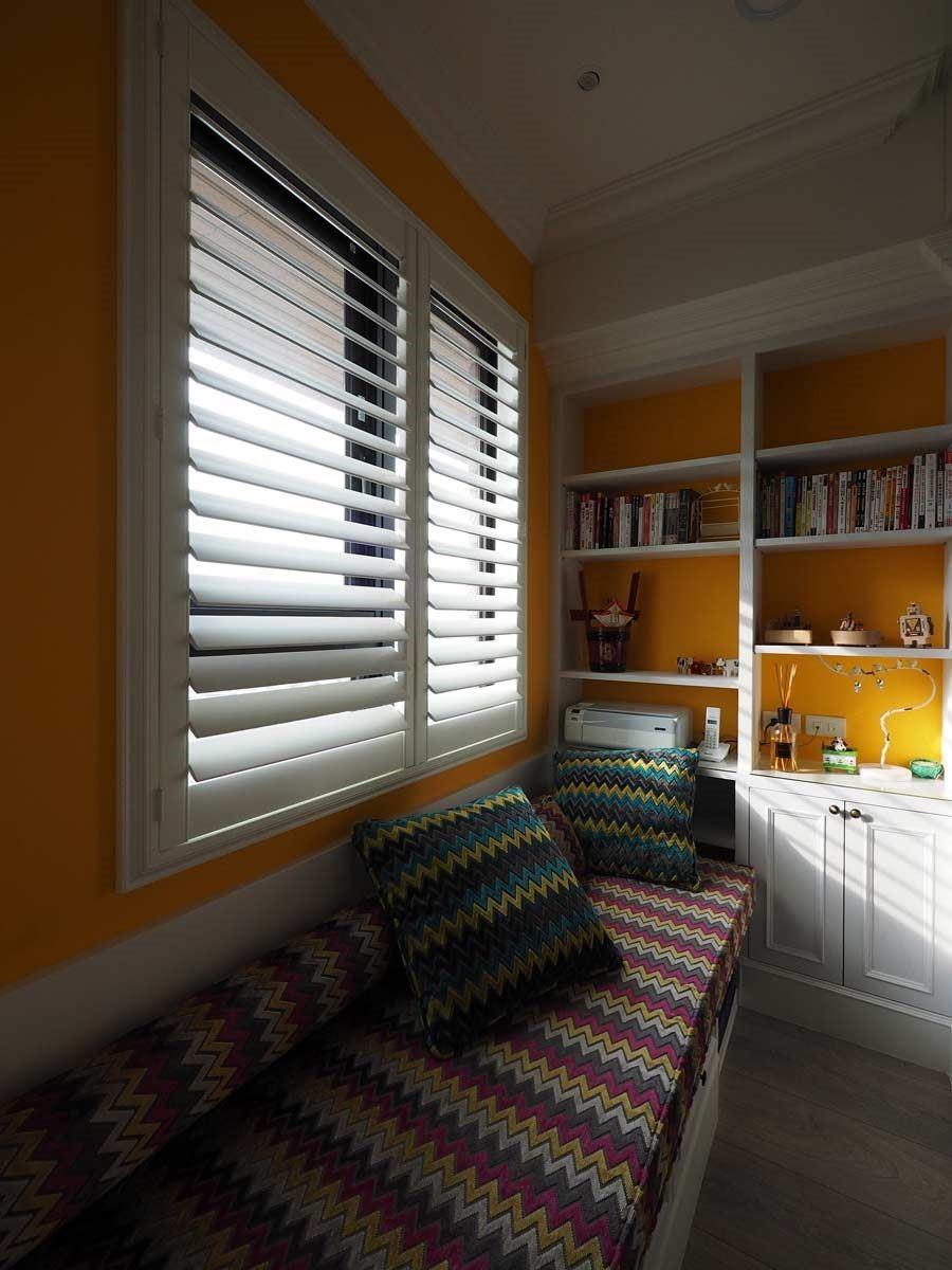 調整百葉窗葉片,就能控制室內明亮程度。