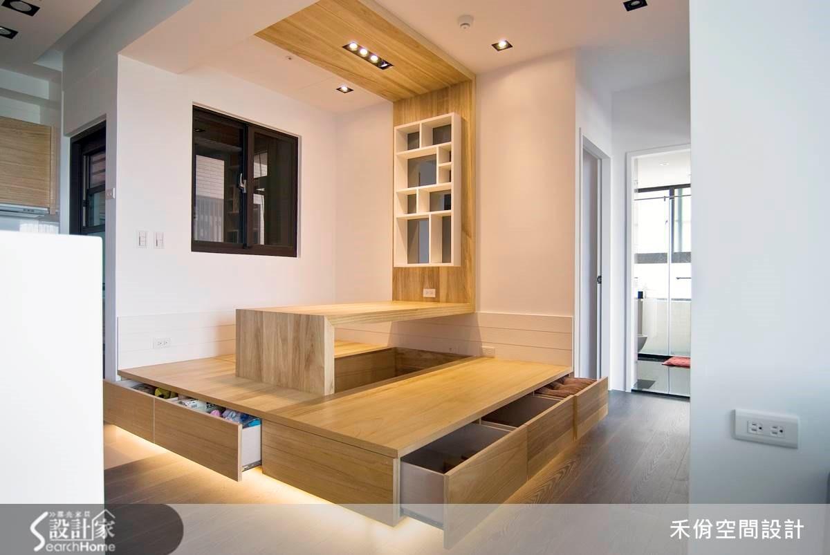 18 坪空間除了一個人住,更有複合機能區域讓三五好友一起歡聚!