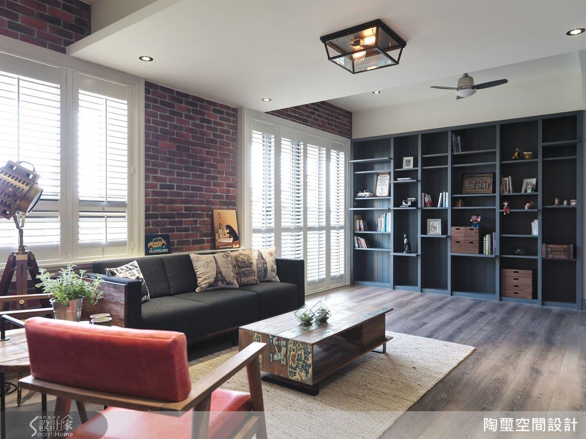 融合鄉村與工業風格的迥然不同的特色,卻能重新創造宛如紐約公寓般蘊含性格與質感的混搭美感。