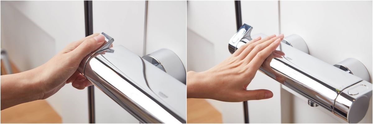 歸功於 GROHE 專利防燙技術,使用時再也不用擔心被燙傷。