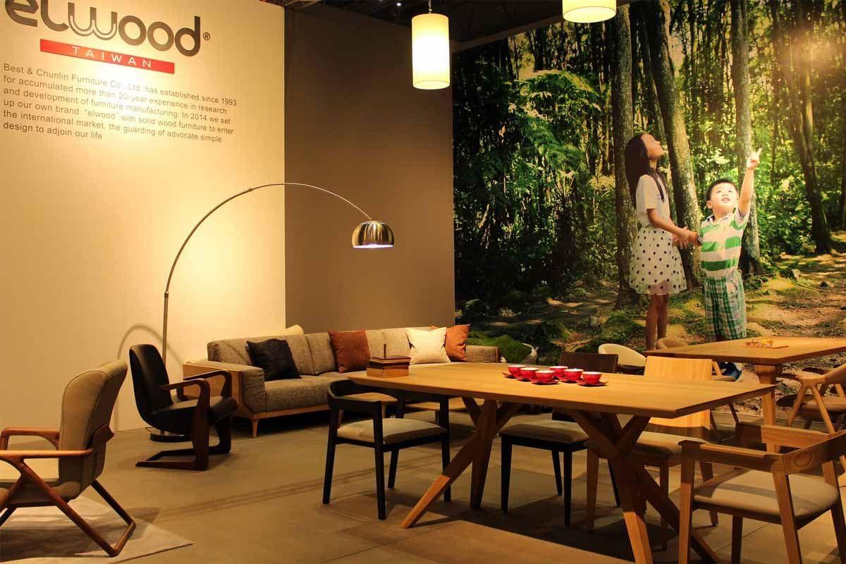 台灣興樺公司 2015年9月首度參加上海虹橋家具展,展出自主原創品牌 elwood 家具,結合東西方元素的實木家具,線條優美俐落,初試啼聲即獲得高度的關注與詢問,形成了獨特的競爭優勢。