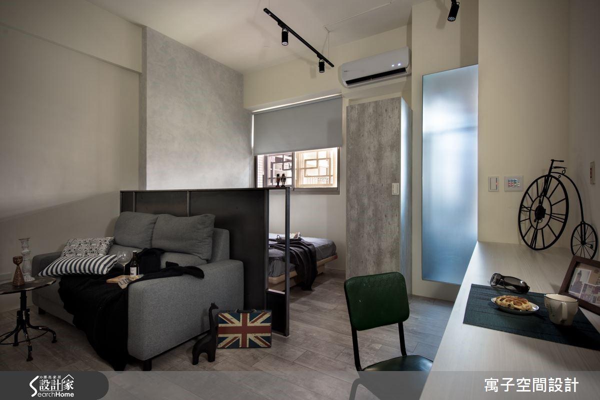 設計師以風格營造與開放設計兩個重點,完成優雅性格兼具的單身空間。
