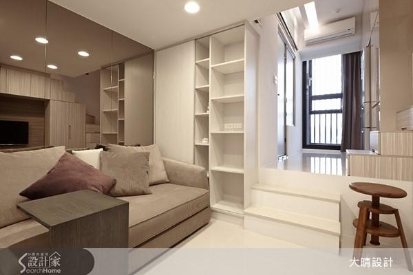設計師利用挑高 4 米 2 優勢打造錯層設計,讓夾層擁有不可思議的空間規劃!