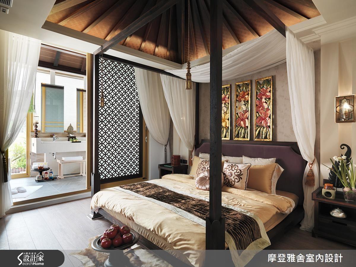 峇里島經典的四柱帳幔大床與木樑設計成為海島風情十足的吸睛重點,讓一切的壓力拋諸腦後。