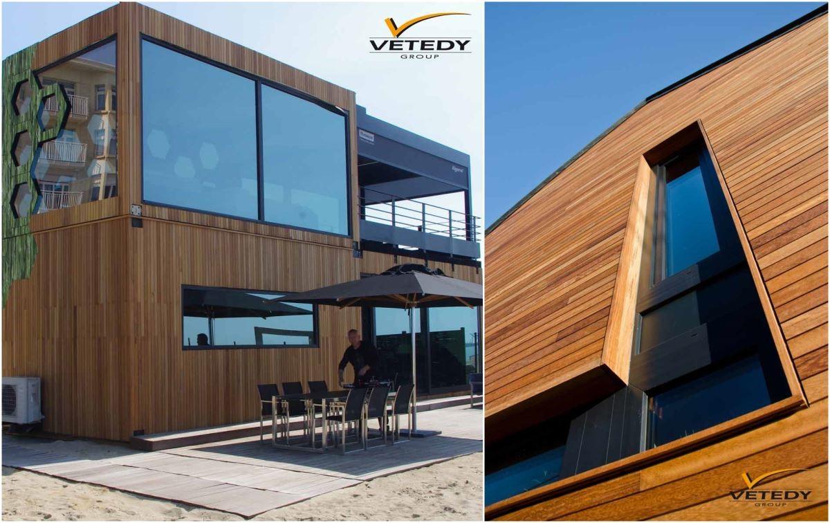 Techniclic® 戶外牆板施工比其他系統更快,超耐磨複合材料的結構,易於拆卸和更換。