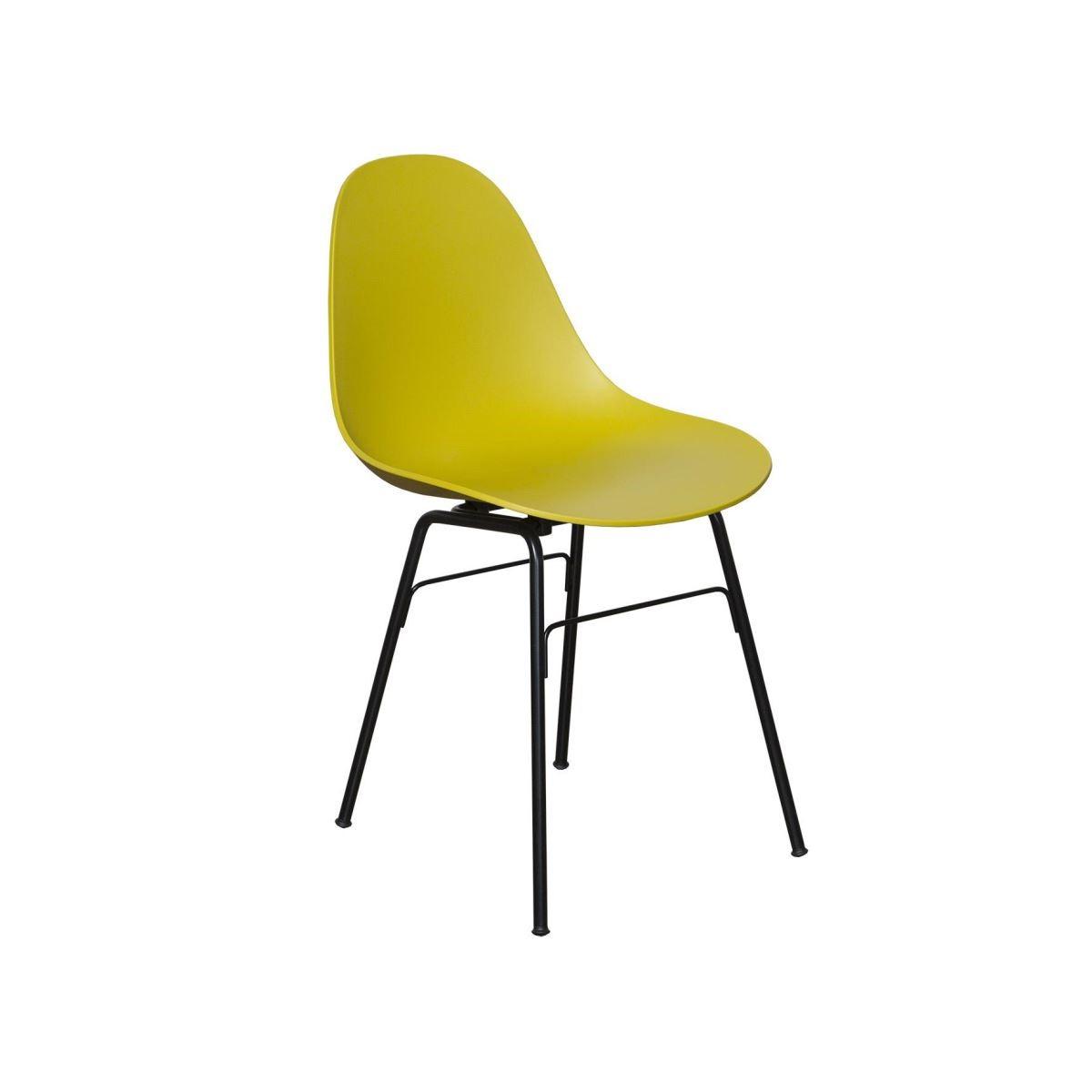 蒙莎餐椅-芥末黃。
