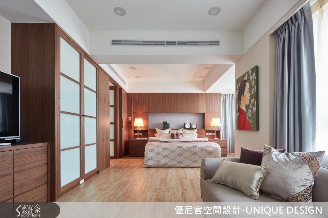 優尼客設計大刀闊斧重塑主臥室動線,空間便豁然開朗。